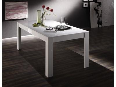 Table de repas Basic blanc brillant