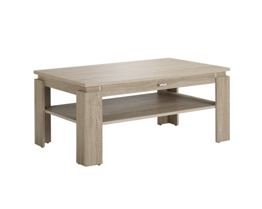 table basse 1 tiroir hannibal chene sonoma. Black Bedroom Furniture Sets. Home Design Ideas