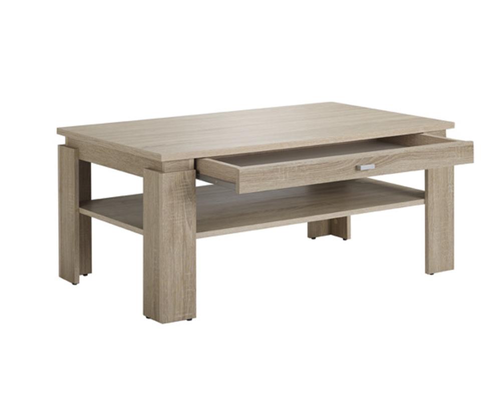 Table Basse Chene Sonoma.Table Basse 1 Tiroir Hannibal