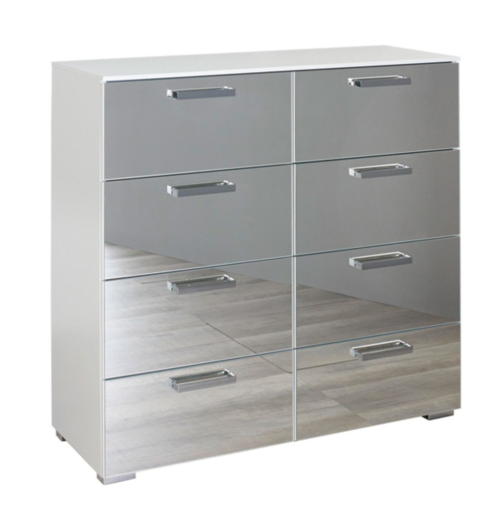 commode 8 tiroirs denia blanc. Black Bedroom Furniture Sets. Home Design Ideas