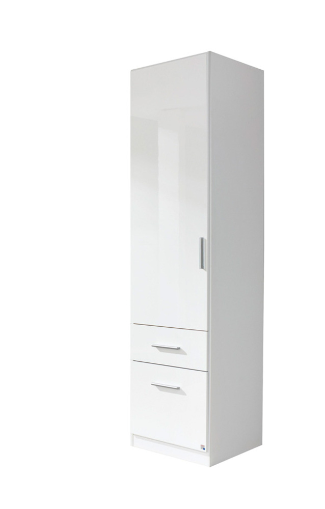 armoire 1 porte 2 tiroirs droite celle blanc blanc brillant. Black Bedroom Furniture Sets. Home Design Ideas