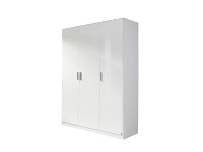 Armoire 3  portes Celle blanc/blanc brillant