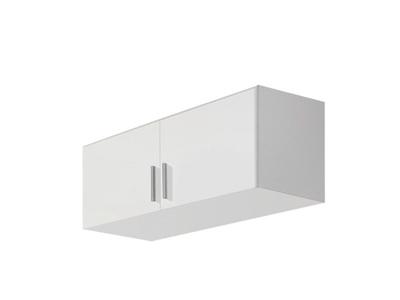 Surmeuble d'armoire 2 portes Celle blanc/blanc brillant