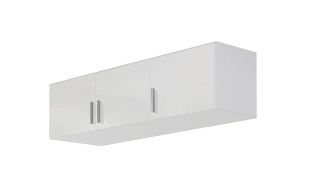 Surmeuble d 39 armoire 3 portes celle blanc blanc brillant for Surmeuble armoire chambre