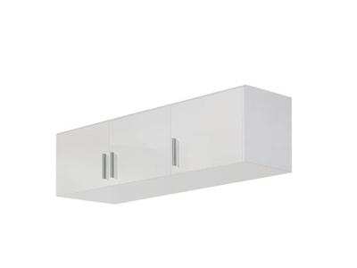 Surmeuble d'armoire 3 portes Celle blanc/blanc brillant