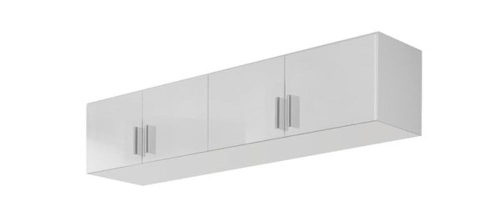 Surmeuble d 39 armoire 4 portes celle blanc blanc brillant for Surmeuble armoire chambre