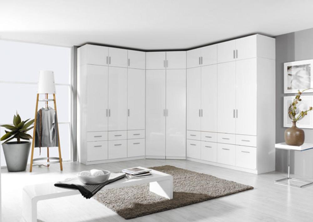 Bevorzugt Surmeuble d'armoire 4 portes Celle blanc/blanc brillant FQ92