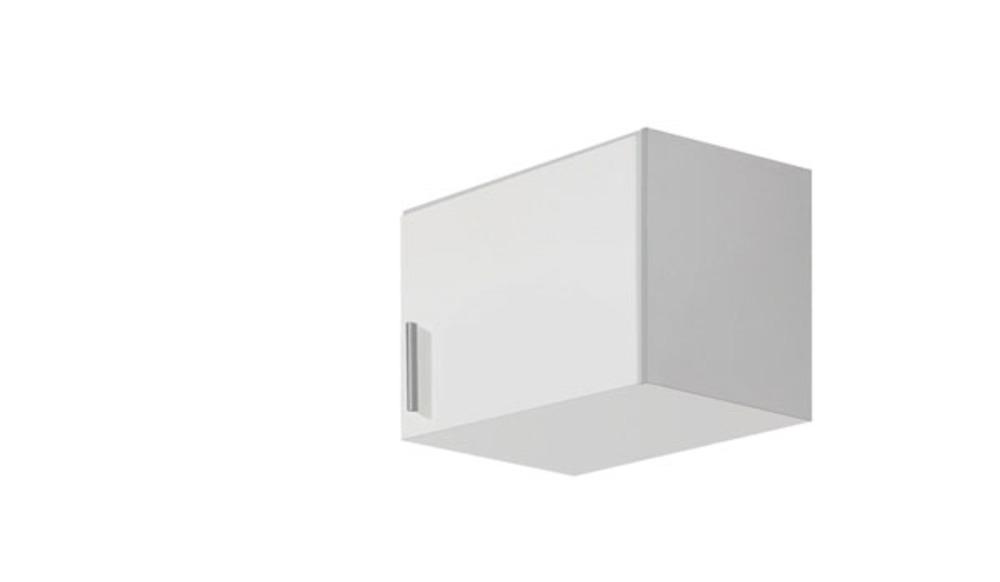 Surmeuble d 39 armoire droite celle blanc blanc brillant for Surmeuble armoire chambre
