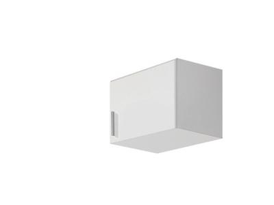 Surmeuble d'armoire à droite Celle blanc/blanc brillant