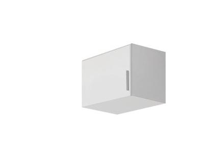 Surmeuble d'armoire à gauche Celle blanc/blanc brillant