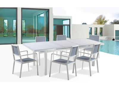 Table + 6 fauteuils Cap ferrat