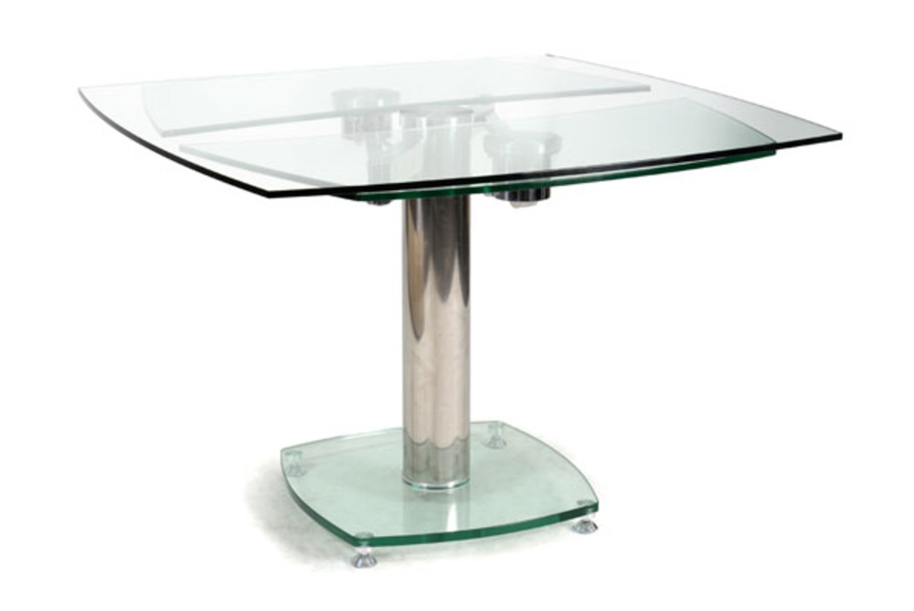 Table de repas vidrion transparent for Table salle a manger en verre extensible