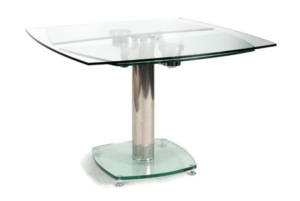 Table de repas vidrion transparent for Table de salle a manger en verre extensible