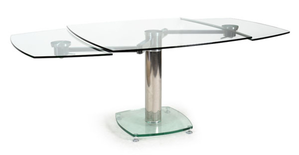 table de repas vidrion transparent. Black Bedroom Furniture Sets. Home Design Ideas