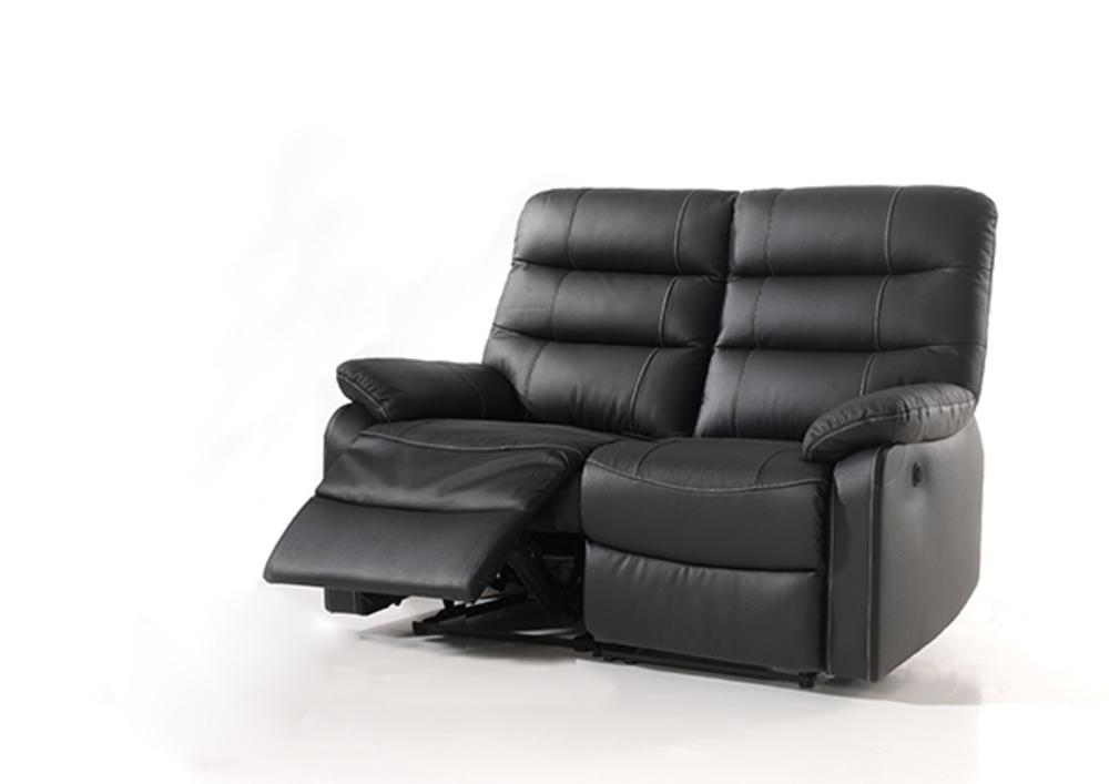 Canape Relax Electrique 2 Places Cameo Noir 3500