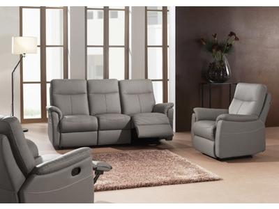 canape 2 places relax manuel lucas gris olive 9808 a. Black Bedroom Furniture Sets. Home Design Ideas