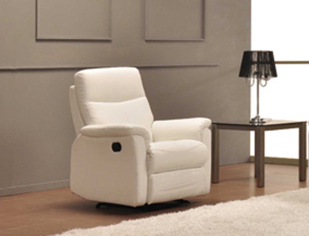 fauteuil relax manuel lucas blanc neige 8815. Black Bedroom Furniture Sets. Home Design Ideas