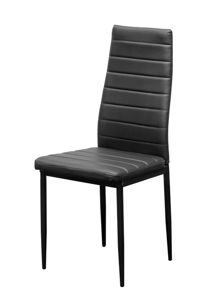 Chaise seat noir l 40 x h 96 x p 41 for Chaise salle a manger confortable
