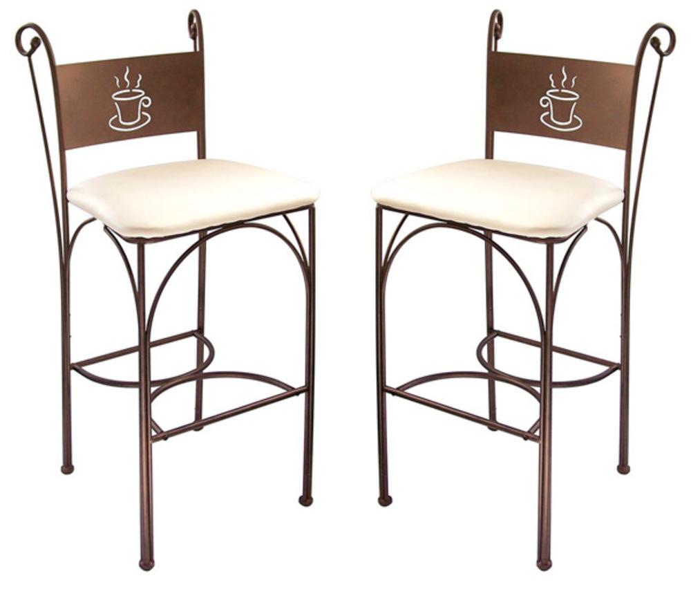 lot de 2 tabourets de bar cafe bronze. Black Bedroom Furniture Sets. Home Design Ideas
