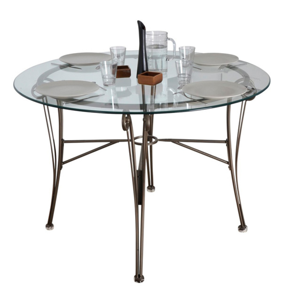 table de repas ronde cafe bronze. Black Bedroom Furniture Sets. Home Design Ideas