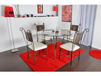 Table de repas ronde Cafe