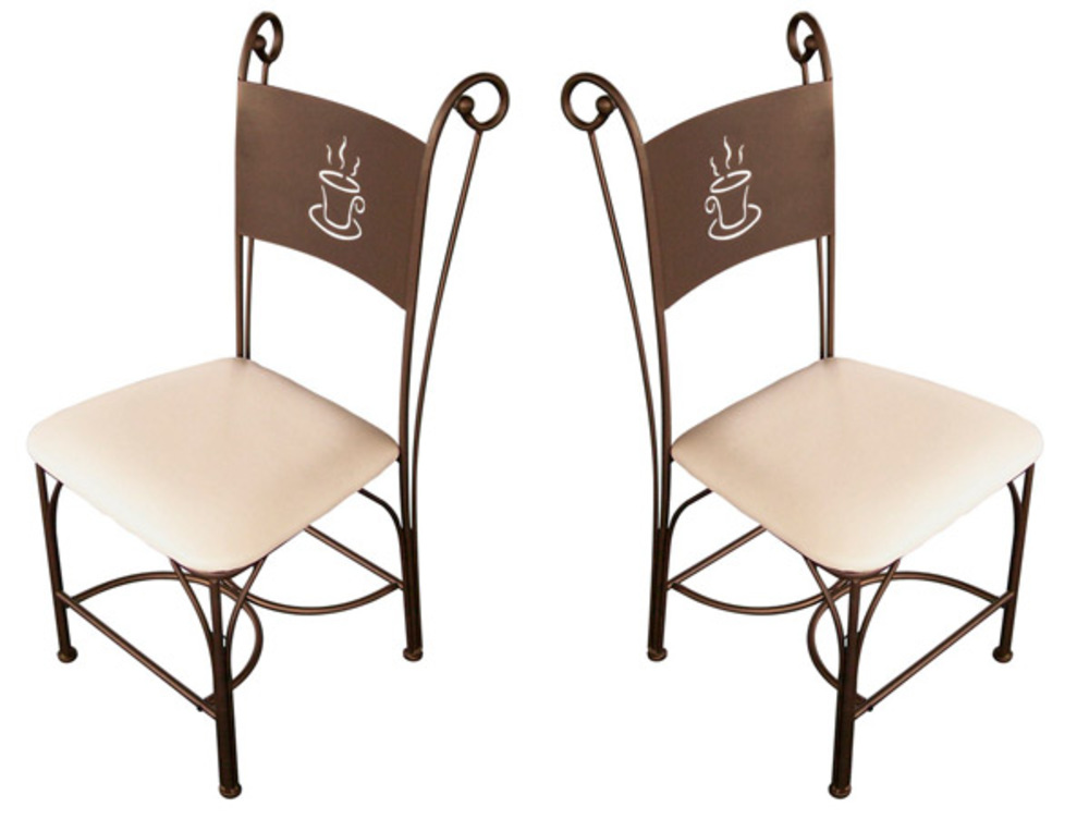 Lot de 2 chaises cafe bronze for Chaise pour bronzer