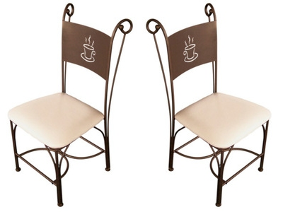 Lot de 2 chaises Cafe