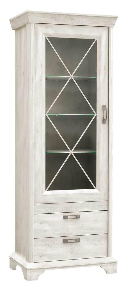 vitrines etageres kashmir lasure blanc l 78.3 x h 210.3 x p 48 5 Meilleur De Eclairage Vitrine Phe2