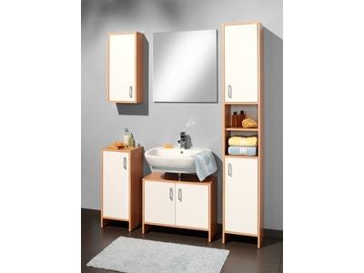 Element bas 1 porte solo hetre blanc - Element bas salle de bain ...