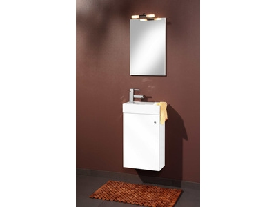 Element bas miroir bologna blanc for Element bas salle de bain