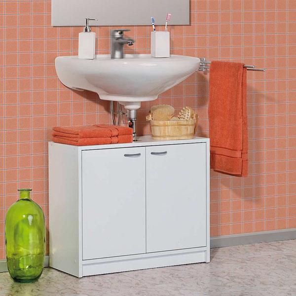 Meuble sous lavabo splash blanc for Element sous lavabo