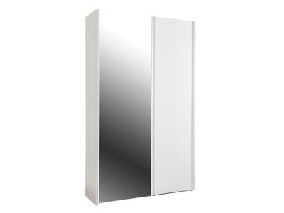 Armoire 2 portes dont 1 miroir Unico in