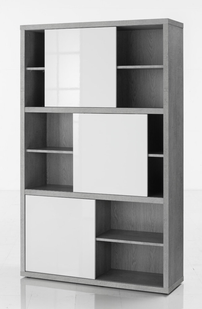 biblioth que haute pratico b ton blanc brillant. Black Bedroom Furniture Sets. Home Design Ideas