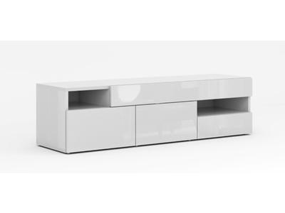 meuble tv galleria blanc brillant. Black Bedroom Furniture Sets. Home Design Ideas