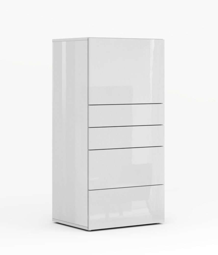 secretaire galleria blanc brillant - Meuble Secretaire Design 2
