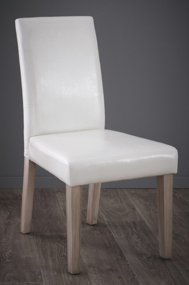 chaise guevara naturel blanc l 45 x h 94 x p 55 5. Black Bedroom Furniture Sets. Home Design Ideas