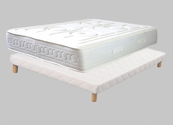 matelas sommier ecosom 1 pack technogel. Black Bedroom Furniture Sets. Home Design Ideas