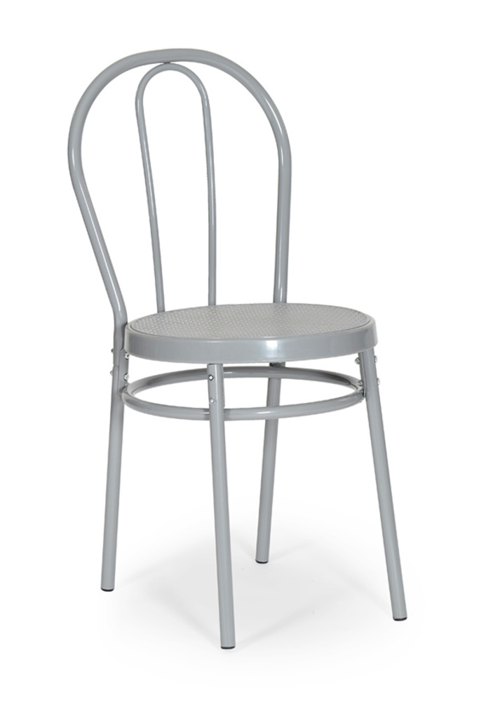 Chaise bistrot gris for Chaise salle a manger metal