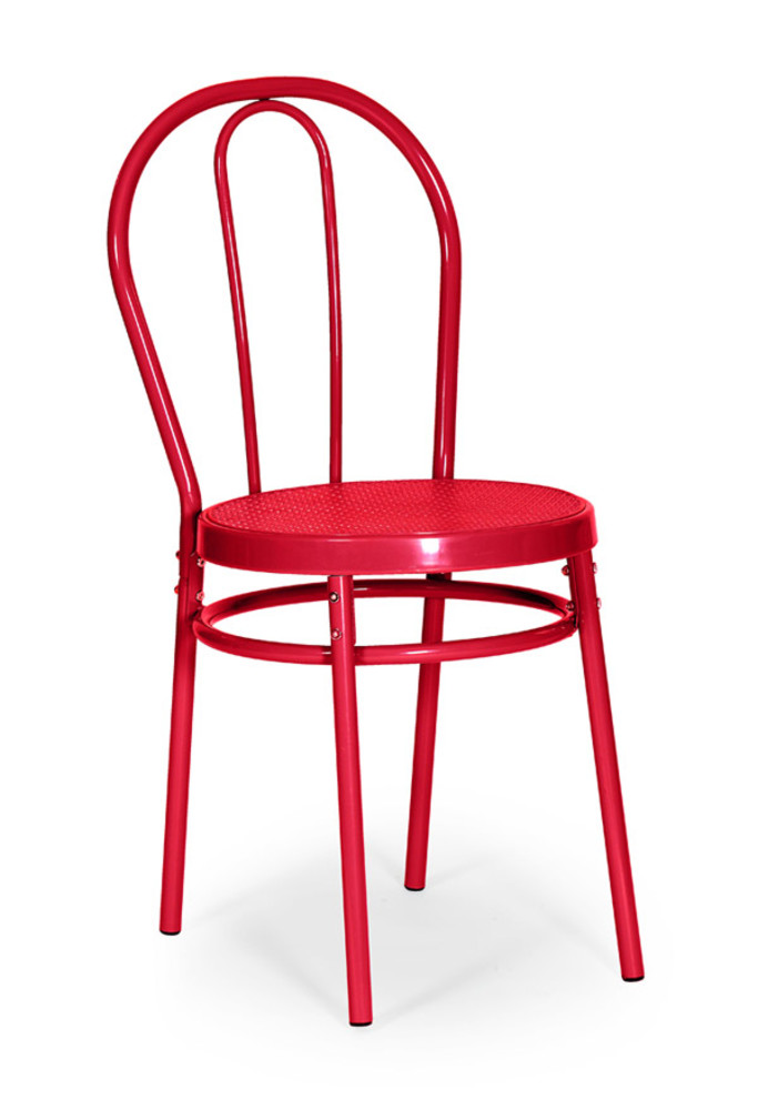 Chaise bistrot rouge for Chaise salle a manger confortable