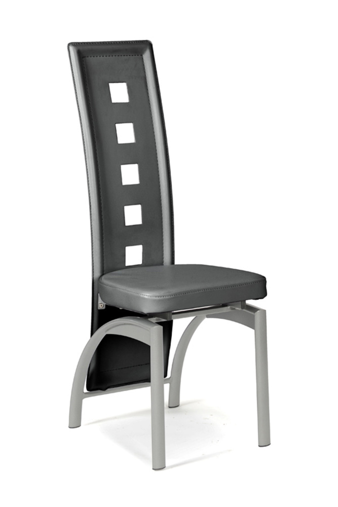 Chaise eve gris for Chaise salle a manger gris anthracite