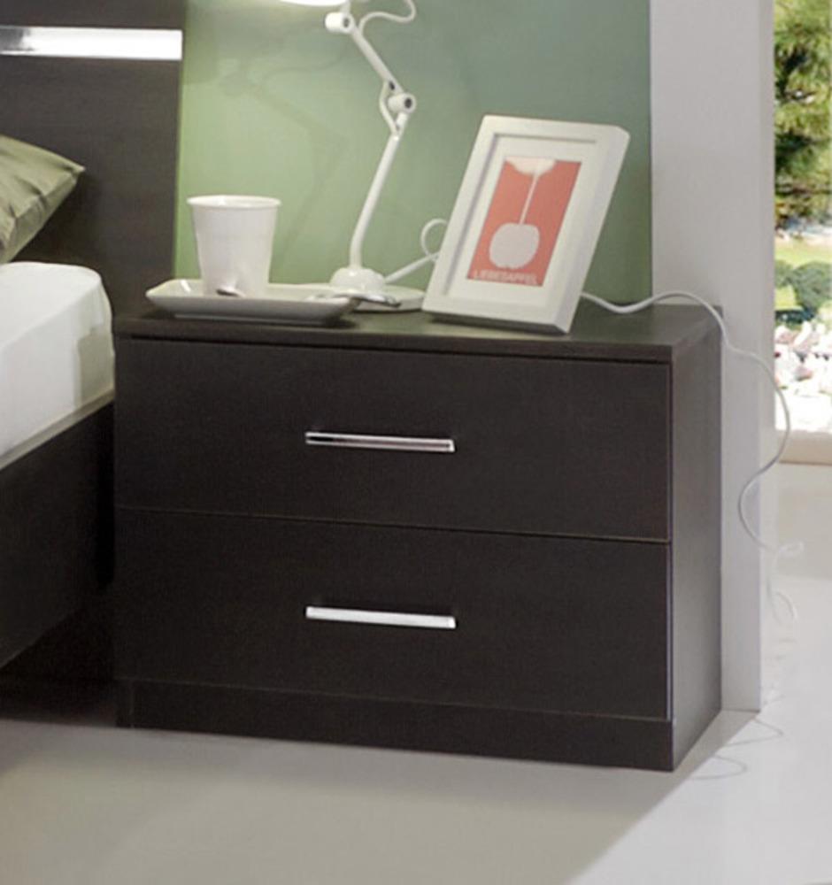 chevet 2 tiroirs anna chambre coucher wengue. Black Bedroom Furniture Sets. Home Design Ideas
