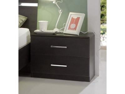 Chevet 2 tiroirs Anna chambre À coucher wengue