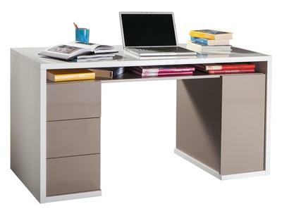 Bureau 3 tiroirs 1 porte