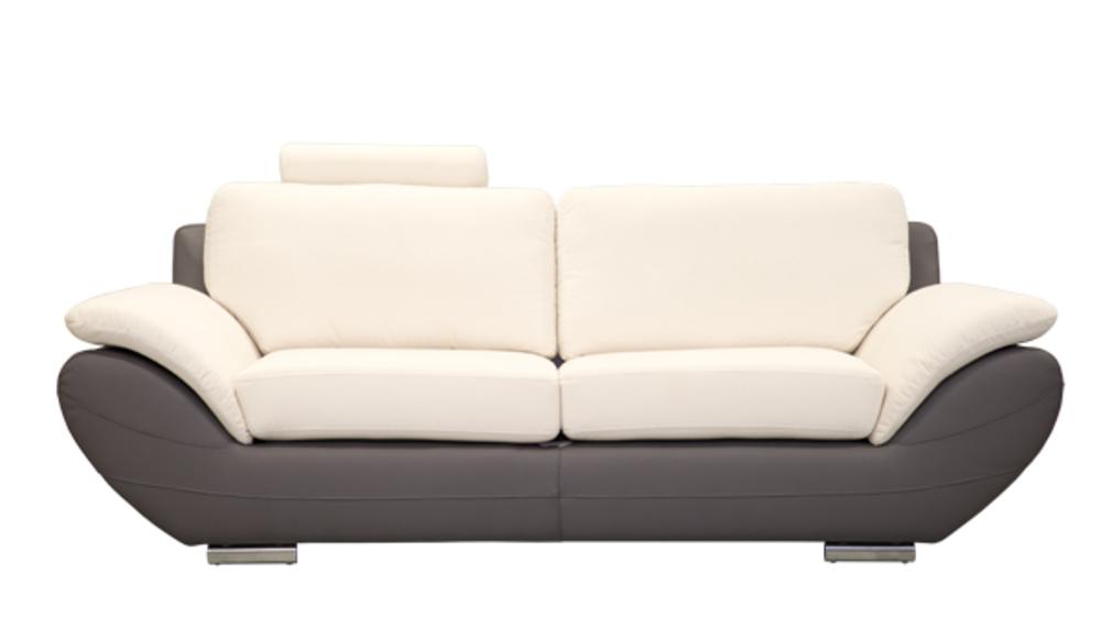 canape 3 places avignon gris blanc. Black Bedroom Furniture Sets. Home Design Ideas