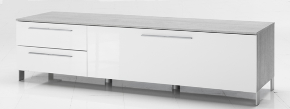 meuble tv modello btonblanc brillant - Meuble Tv Blanc Modele Lions