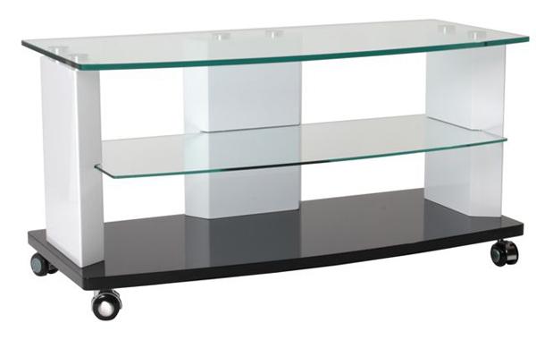 meuble tv cristal blanc noir. Black Bedroom Furniture Sets. Home Design Ideas