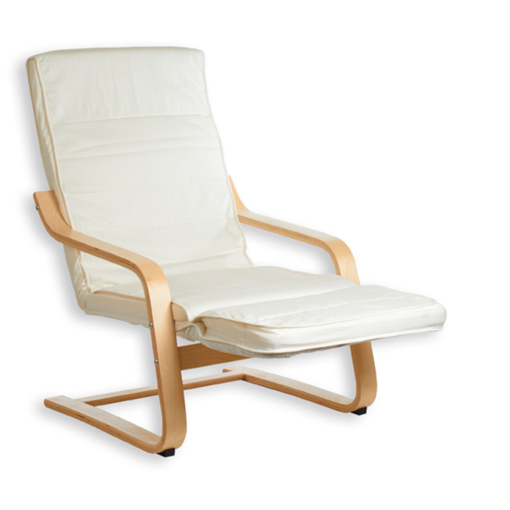 Fauteuil avec repose pied inclinable Kessi Biege