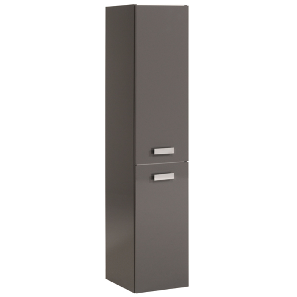 colonne 2 portes studio 2 laque gris. Black Bedroom Furniture Sets. Home Design Ideas