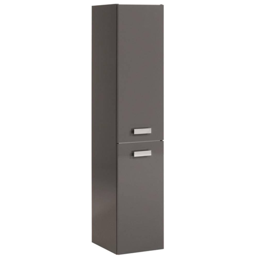 Colonne 2 portes studio 2 laque gris for Meuble salle de bain deux portes