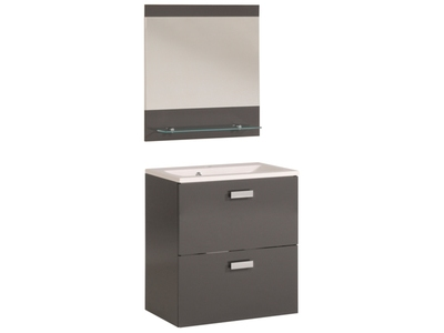 meuble sous lavabo armonia chene sonoma blanc brillant. Black Bedroom Furniture Sets. Home Design Ideas
